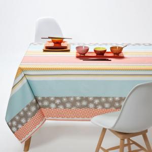 Скатерть с рисунком, Multigraphic La Redoute Interieurs. Цвет: зеленый/ оранжевый
