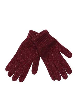 Перчатки Pulka. Цвет: бордовый