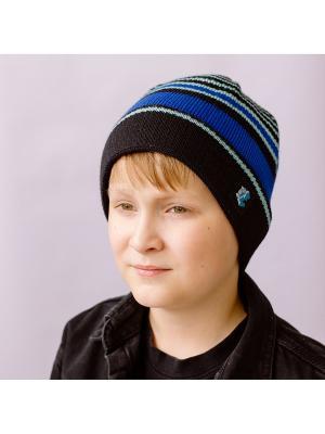 Шапка Хип-хоп 2 COOMPOL. Цвет: черный, лазурный, светло-голубой