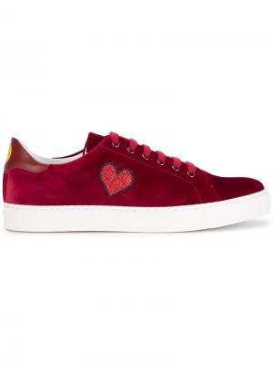 Кроссовки с аппликацией Anya Hindmarch. Цвет: красный