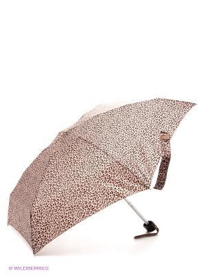 Зонт женский механика Fulton. Цвет: бежевый, коричневый