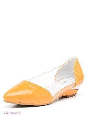 Туфли Vitacci. Цвет: оранжевый, белый