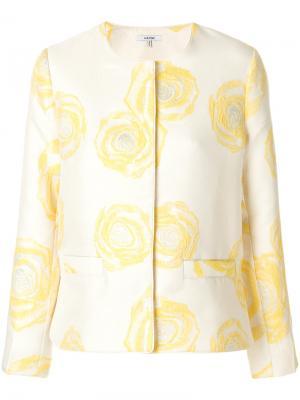 Жаккардовый пиджак Turenne Ganni. Цвет: жёлтый и оранжевый