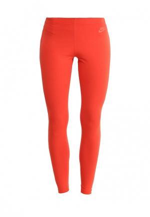 Леггинсы Nike. Цвет: оранжевый