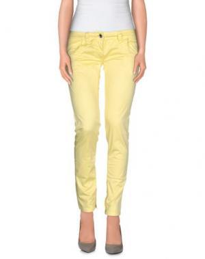 Повседневные брюки DATCH. Цвет: желтый