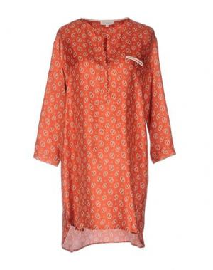 Короткое платье ANTONELLI. Цвет: ржаво-коричневый