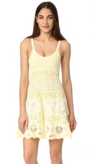 Платье с тонкими бретельками Temptation Positano. Цвет: желтый мрамор