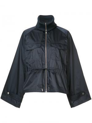 Куртка свободного кроя с широкими лацканами Ganni. Цвет: синий