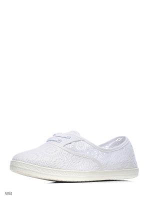 Слипоны CentrShoes. Цвет: белый
