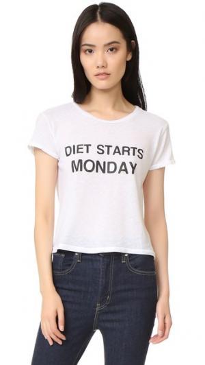 Футболка Diet Starts On Monday Private Party. Цвет: белый
