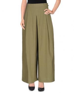 Повседневные брюки NANUSHKA. Цвет: зеленый-милитари
