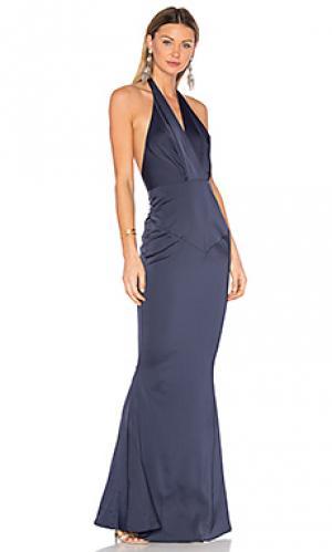 Вечернее платье daniella Elle Zeitoune. Цвет: синий