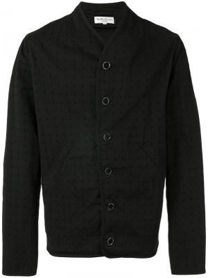 Куртка с перфорацией YMC. Цвет: чёрный