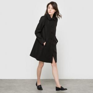 Пальто с накидкой и карманами. R édition. Цвет: красный,черный