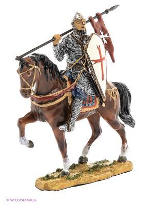 Статуэтка Конный рыцарь крестоносец Veronese. Цвет: коричневый, серый, темно-синий