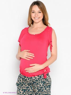 Кофточка для беременных 40 недель. Цвет: розовый