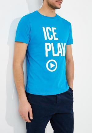 Футболка Ice Play. Цвет: голубой