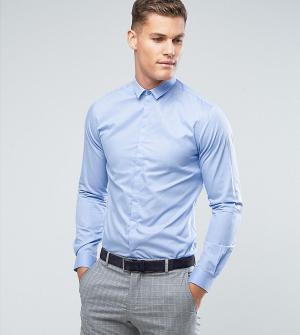 Noak Приталенная рубашка. Цвет: синий