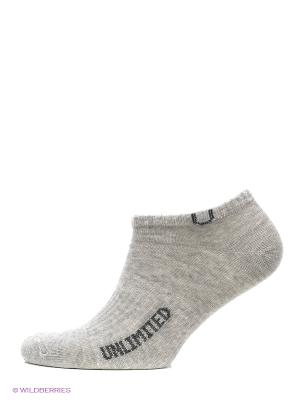 Носки, 5 пар Unlimited. Цвет: серый меланж