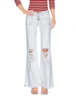 Джинсовые брюки VICOLO. Цвет: слоновая кость