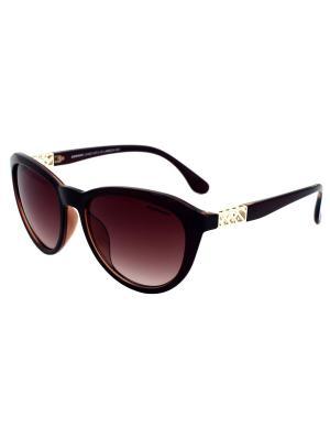 Солнцезащитные очки Exenza. Цвет: темно-коричневый,золотистый