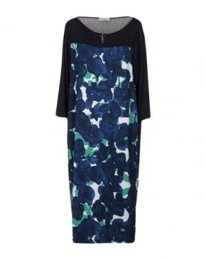 Платье до колена BARONI. Цвет: темно-синий