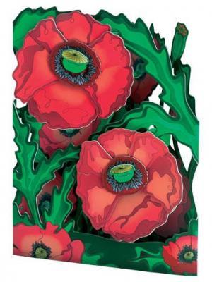 Объемная открытка  Маки Даринчи. Цвет: красный