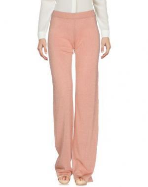 Повседневные брюки ROBERTO COLLINA. Цвет: пастельно-розовый