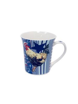 Кружка Великолепные петухи-1 350 мл п/уп (асс) Elff Ceramics. Цвет: синий, голубой, красный, белый