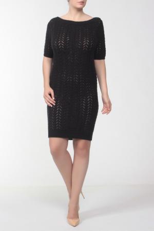 Платье вязаное C'N'C. Цвет: черный