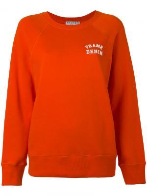 Logo print sweatshirt Frame Denim. Цвет: жёлтый и оранжевый