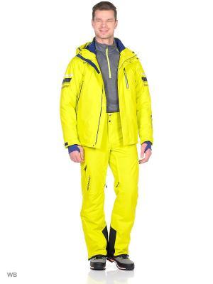 Куртка Stayer. Цвет: темно-синий, салатовый, желтый