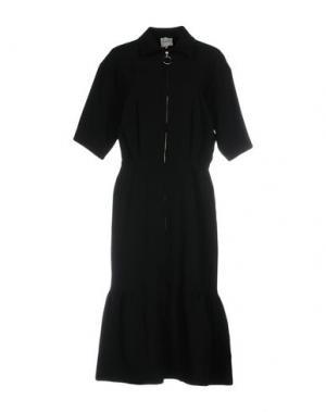 Платье длиной 3/4 EDIT. Цвет: черный