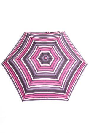 Зонт суперкомпактный Isotoner. Цвет: розовый, полоски