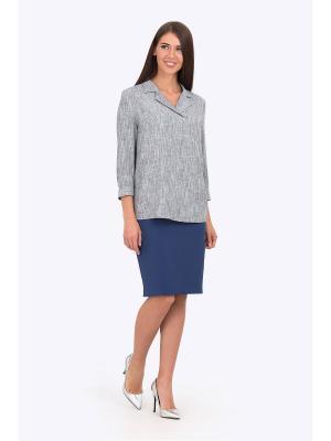 Блузка EMKA FASHION. Цвет: серый
