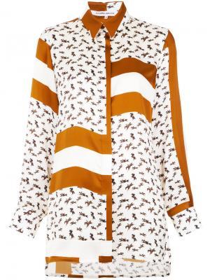 Printed silk shirt Gloria Coelho. Цвет: белый