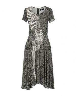 Платье до колена IRON FIST. Цвет: черный
