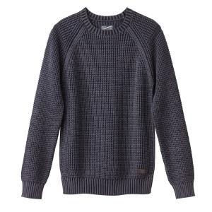 Пуловер крупной вязки PETROL INDUSTRIES. Цвет: синий морской