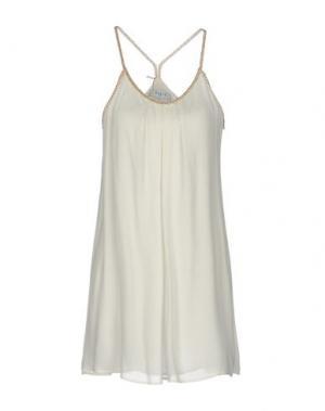Короткое платье AXARA PARIS. Цвет: белый