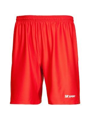 Футбольные шорты Champion II 2K. Цвет: красный, белый