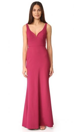 Вечернее платье с вырезом сердечком Jill Stuart. Цвет: дикая роза