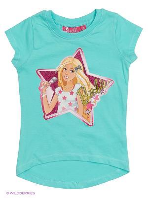 Футболка Barbie. Цвет: лазурный, синий
