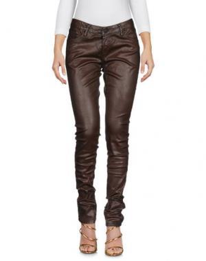 Джинсовые брюки CIMARRON. Цвет: коричневый