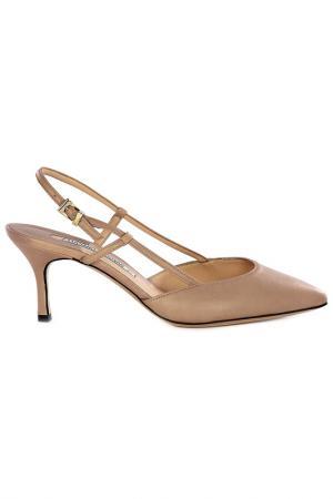 Босоножки на каблуках Luciano Padovan. Цвет: бежевый