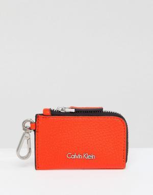 Calvin Klein Кошелек для мелочи на молнии. Цвет: оранжевый