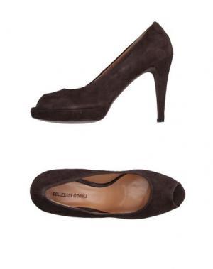 Туфли IO DONNA. Цвет: темно-коричневый