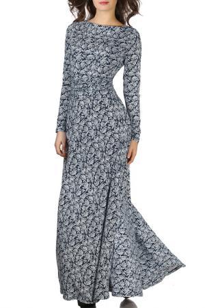 Платье Olivegrey. Цвет: сине-белый