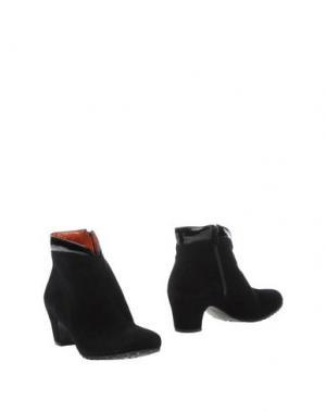 Полусапоги и высокие ботинки KATRIN. Цвет: черный