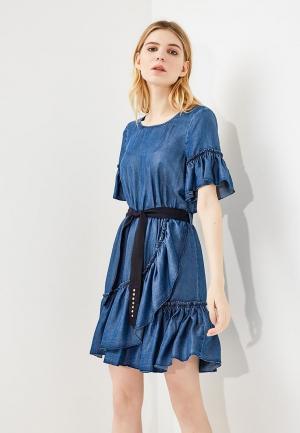 Платье джинсовое Liu Jo Jeans. Цвет: синий