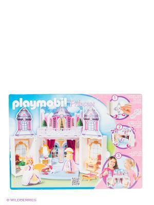 Игровой набор Замок принцессы Playmobil. Цвет: белый, зеленый, розовый, желтый
